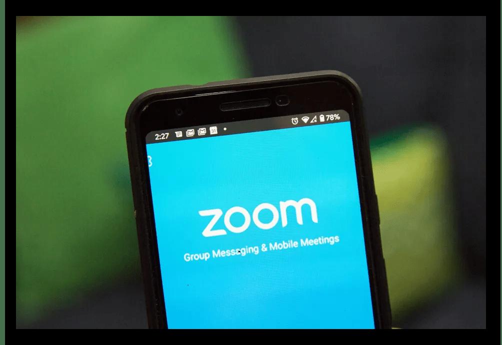 Картинка Приложение Zoom на смартфоне
