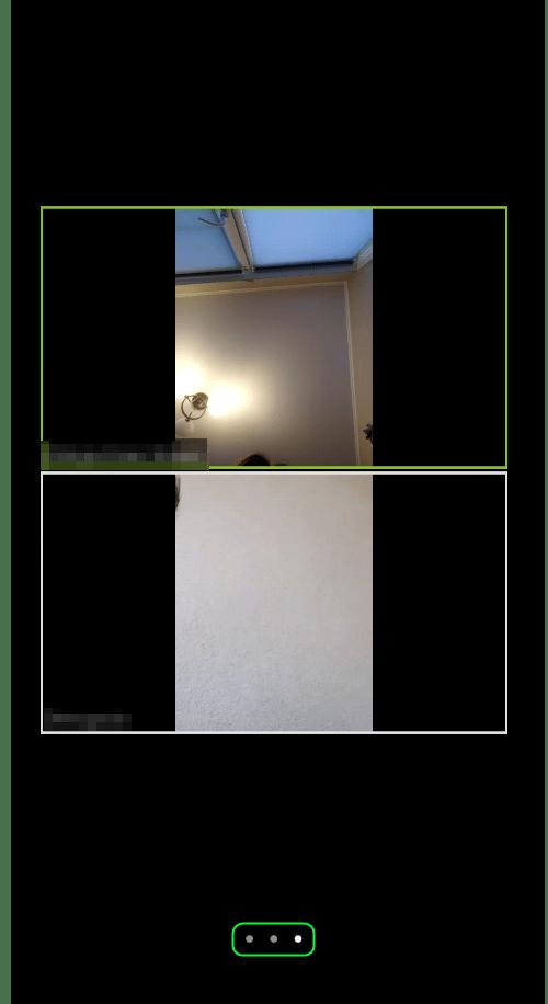 Переход в галерею участников в мобильном приложении Zoom