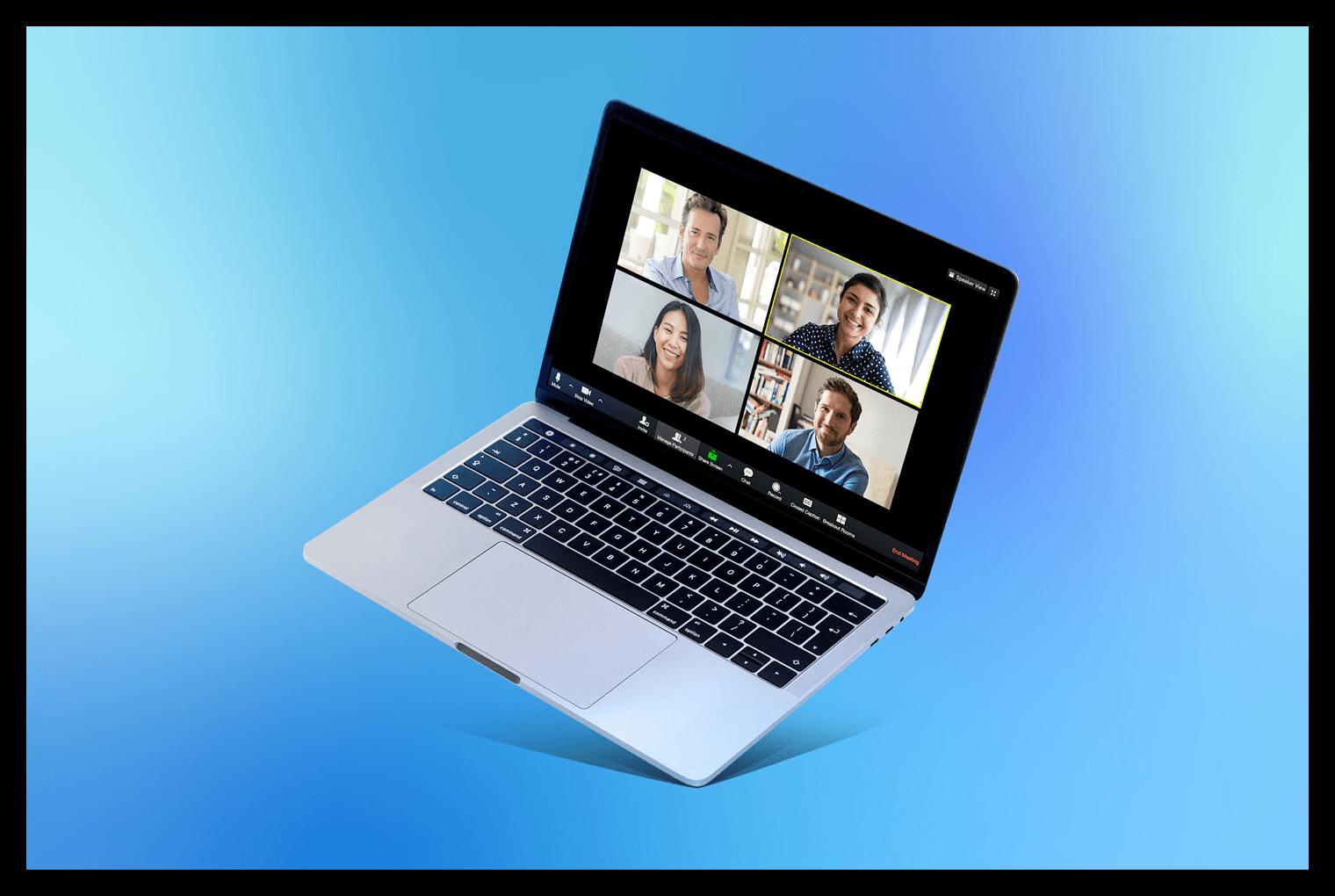 Картинка Ноутбук с запущенным Zoom