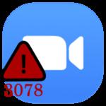 Код ошибки 3078 в Zoom